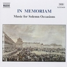 In Memoriam (Music For Solemn Occasions) CD (M-/M-) -klassinen-